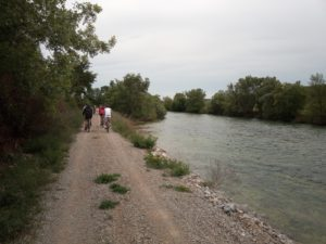 biking next to Cetina